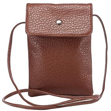 fe768b7f73 Eagsouni® Femmes Filles PU Cuir Petit Sac Téléphone Bandoulière Mini  Pochette Case/Housse/