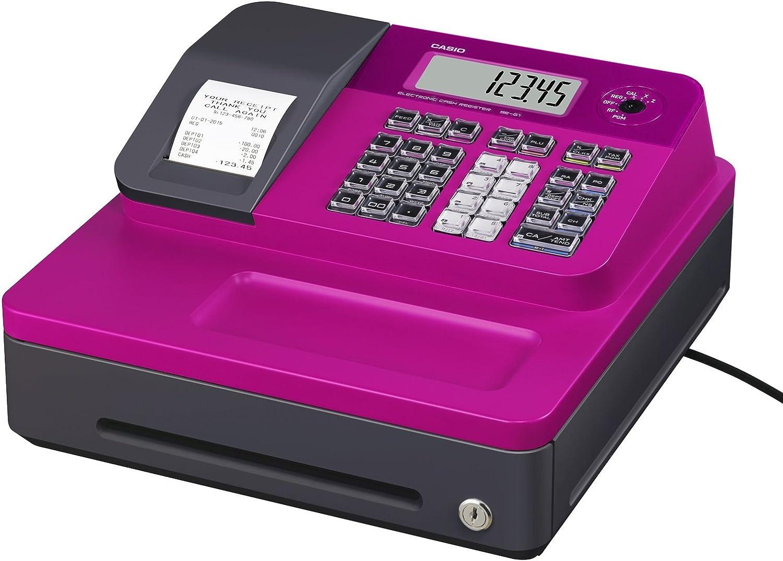 Casio SE-G1SB-PK - Caja registradora (cajón pequeño para dinero, impresora y pantalla para cliente), color rosa