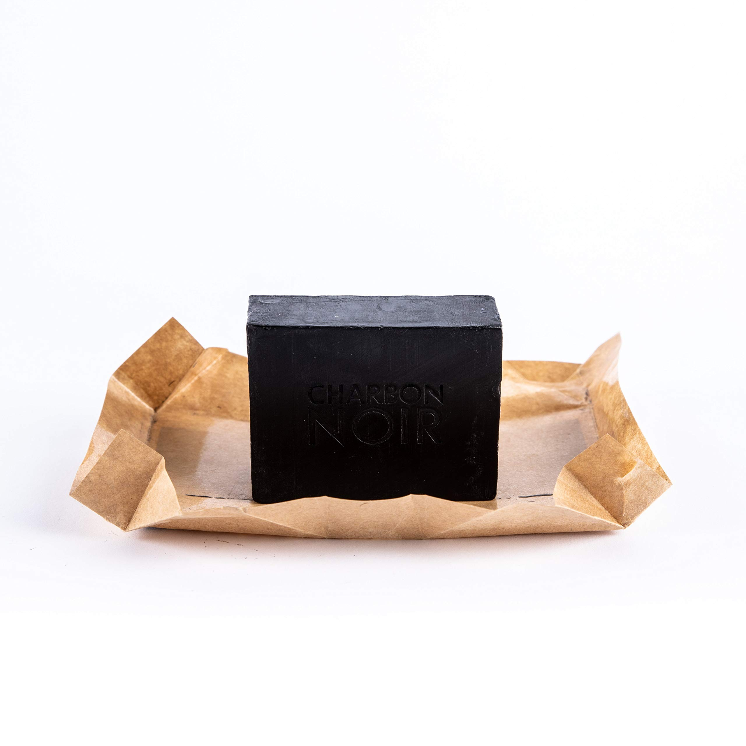 Charbon Noir Facial Bar Charcoal Soap | Activated Charcoal | Deep Cleansing | Eco-Friendly, Plastic-Free and Pet-Friendly - 150g/5,29oz (1 Bar)