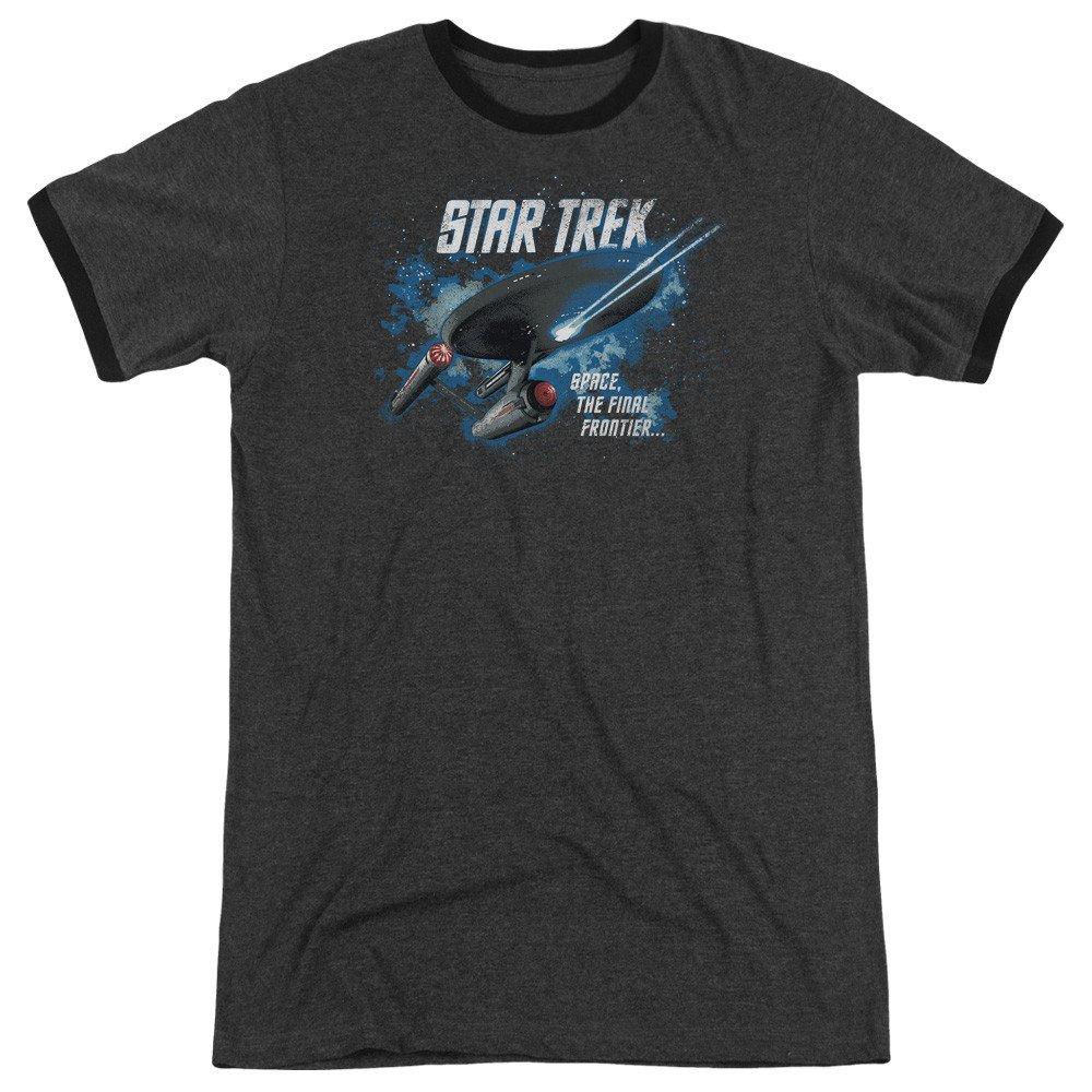 The Final Frontier Adult Ringer T Shirt Star Trek