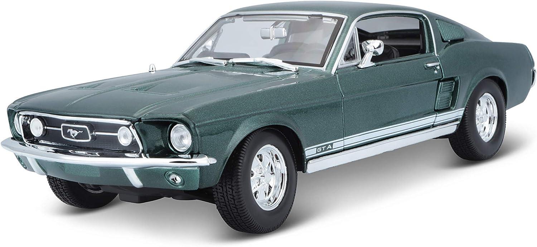 Maisto Ford Mustang Gta Fliessheck 67 Modellauto Mit Federung Maßstab 1 18 Türen Und Motorhaube Beweglich Fertigmodell Lenkbar 24 Cm Grün 531166 Spielzeug