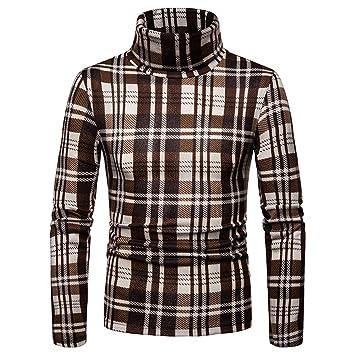 Sudadera casual de hombre Suéter de invierno para hombre Cuello alto Camiseta de manga larga Top