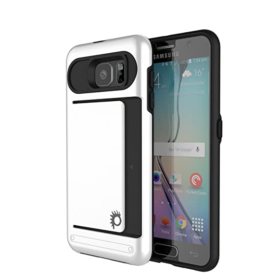 new product 1aa12 81ecd Galaxy S7 Case, PUNKcase [Clutch Series] [Slim Fit] Premium Protective Dual  Layer Soft Armor Cover W/ Tempered Glass PUNKSHIELD Screen Protector [Card  ...