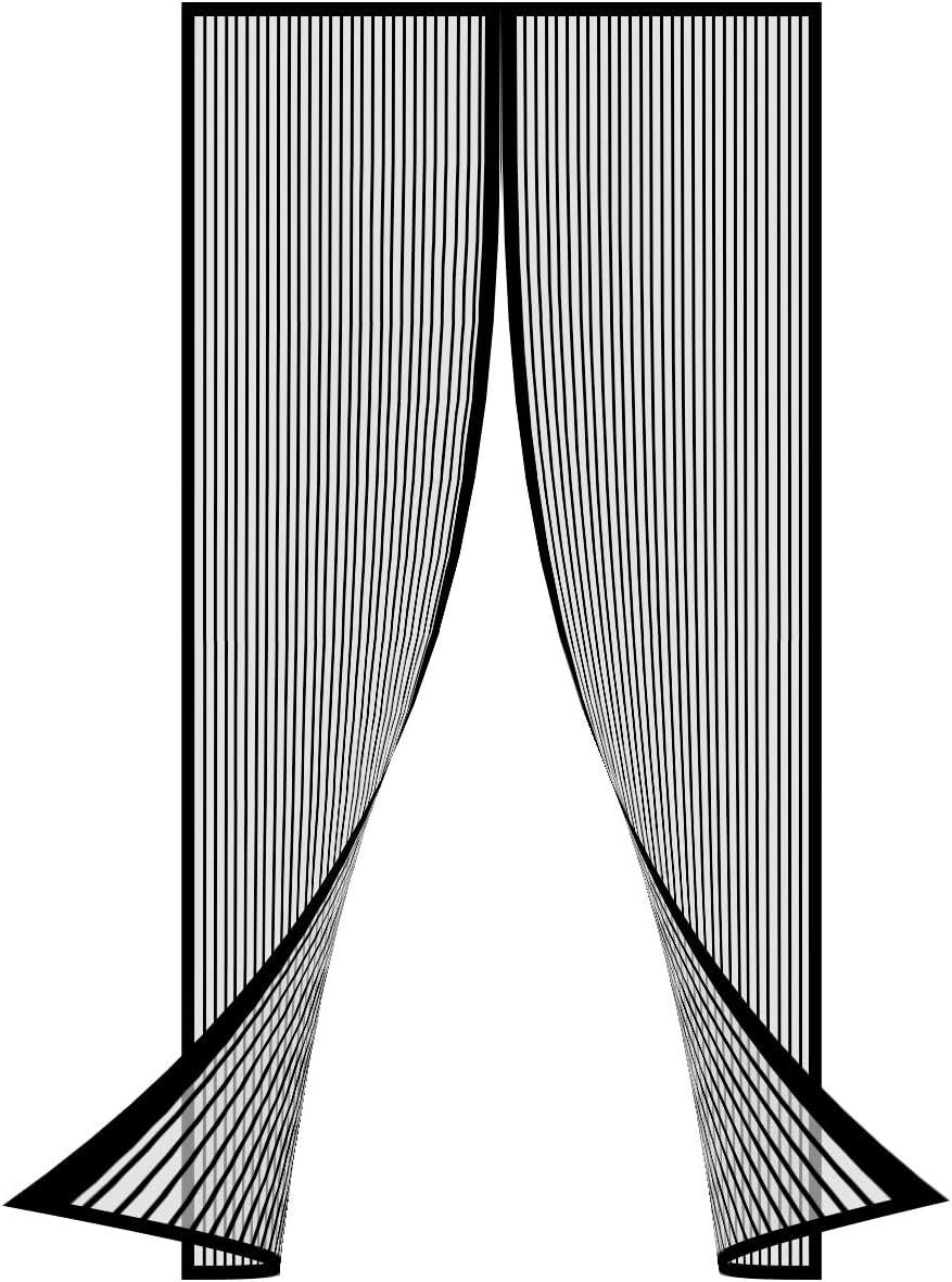 Porta Zanzariera Magnetica 75x180cm Zanzariera Magnetica Per Porte Rete,Chiusura Automatica,Facile Montaggio Ideale per Balconi Porta Soggiorno Porta Cantina Porta Del Patio,Nero