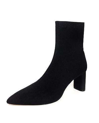 07c903cd6 Amazon.com: Zara Women Fabric high Heel Ankle Boots 5100/301: Shoes