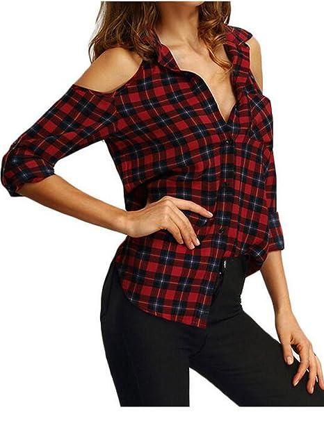 Shinekoo - Camisas - para mujer rojo rosso Medium