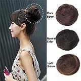 HAIQUAN 8A Human Hair Bun Extension Donut Chignon Hairpiece Wig UP DO Ballerina Knoten Topknot Scrunchie Hairpiece