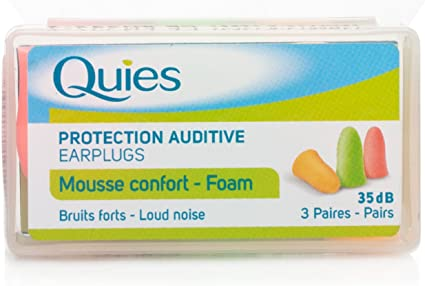 Quies Earplug Foam Fluo 3 pairs