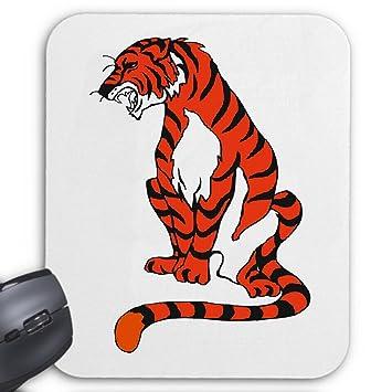 Mousepad Sitzender Tiger Cartoon Zeichentrick Spass Amazonde