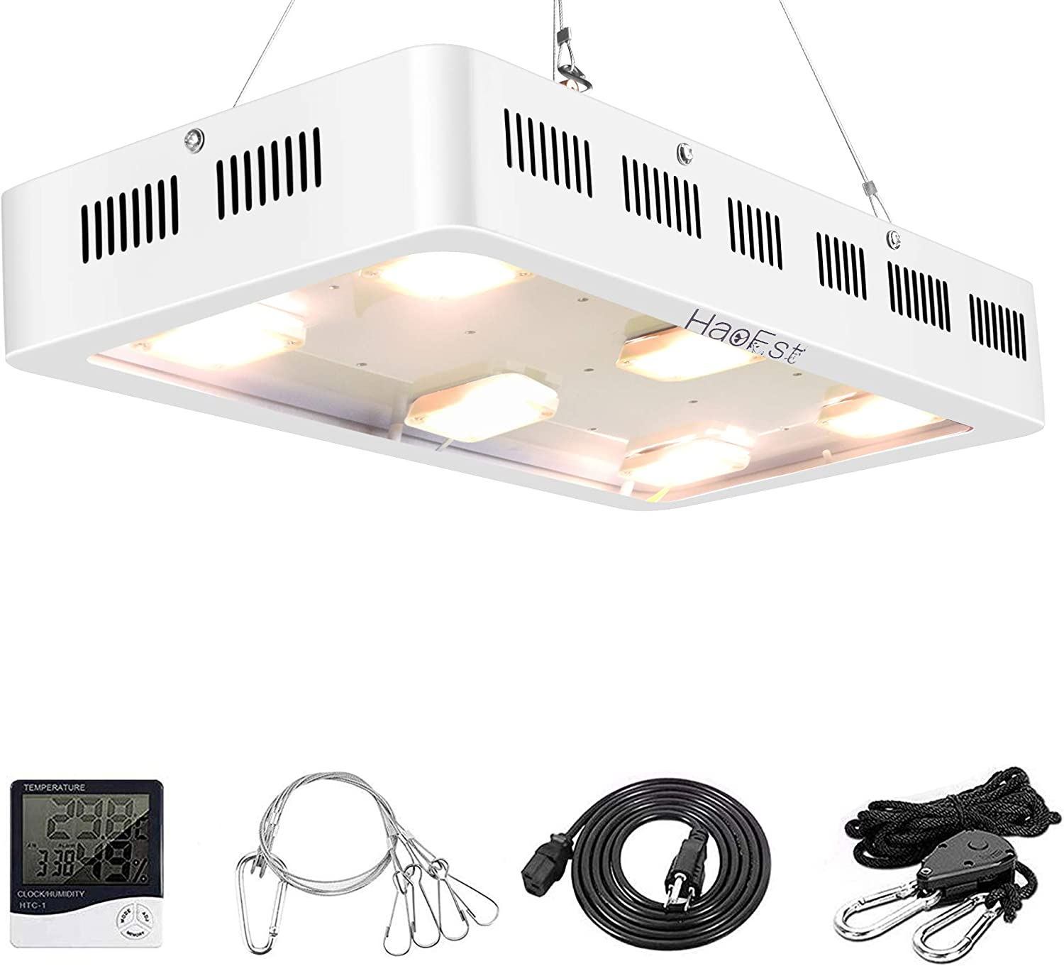 1800W LED Grow Light X6 Sunshine Full Spectrum Grow Light for Greenhouse and Indoor Plant Flowering Growing White