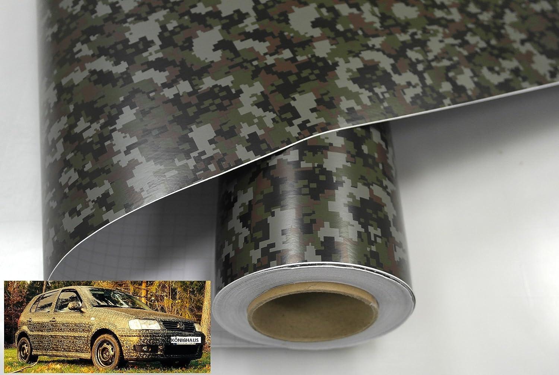 mimetica con istruzioni 200 x 152 cm applicazione senza formazione di bollicine Pellicola Woodland Digital Camo K/önighaus