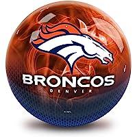 Strikeforce Bowling NFL Denver Broncos On Fire Undrilled Bowling Ball