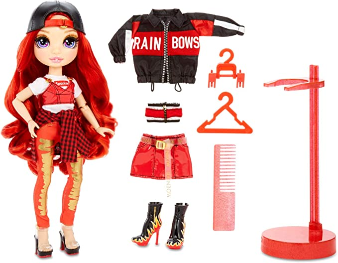Amazon.com: Rainbow Surprise Rainbow High Ruby Anderson – Red Fashion Doll with 2 Outfits: Toys & Games