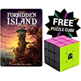 Gamewright Forbidden Island Card Game with Retro Brybelly Puzzle Cube