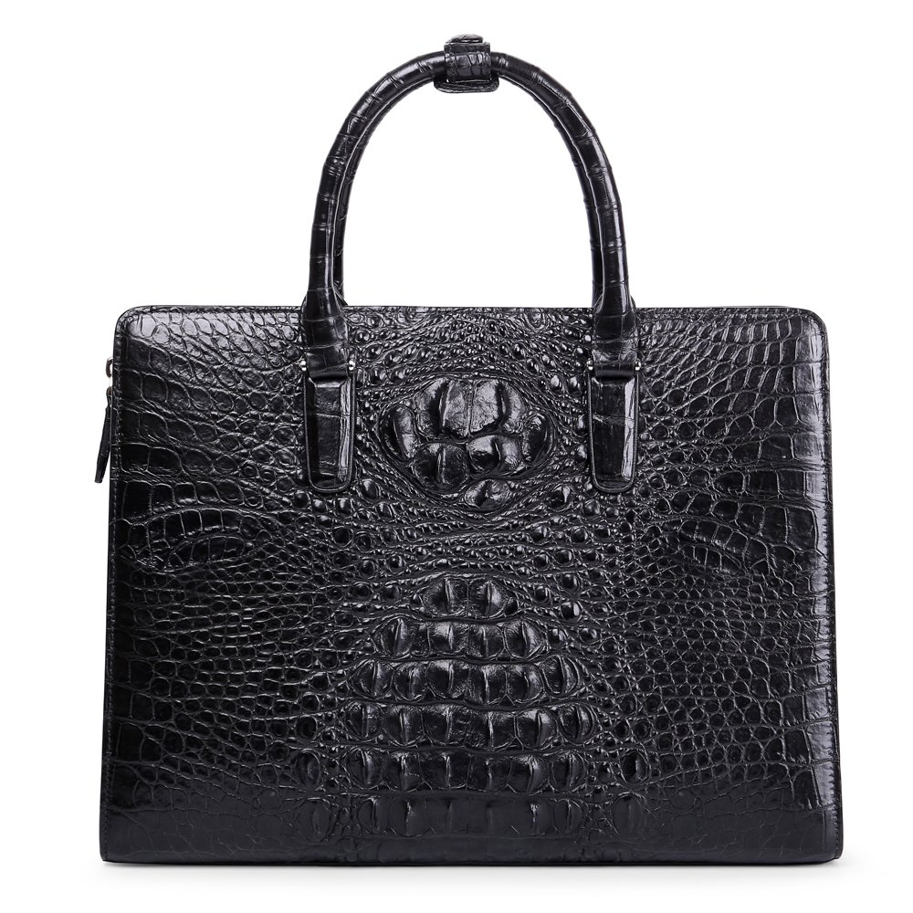 Genuine Leather Men Bag Business Men Handbag Laptop Bag Crocodile Skin Briefcase by BOMEANS