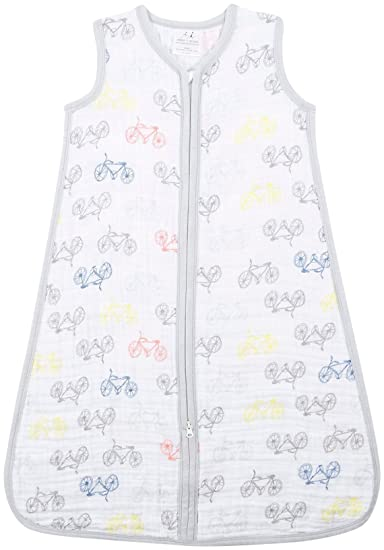 aden + anais Classic Sleeping Bag; 100% Cotton Muslin; Wearable Baby Blanket; Leader of the Pack;...