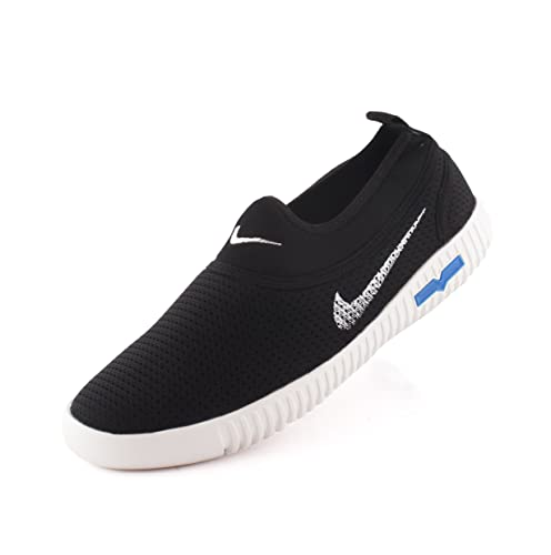 ebdb90cd7bd3 REDFOOT AORFEO Black Unisex Casual Shoes Sneakers for Men and Women No Lace  Casuals CASUAL24  Buy Online at Low Prices in India - Amazon.in