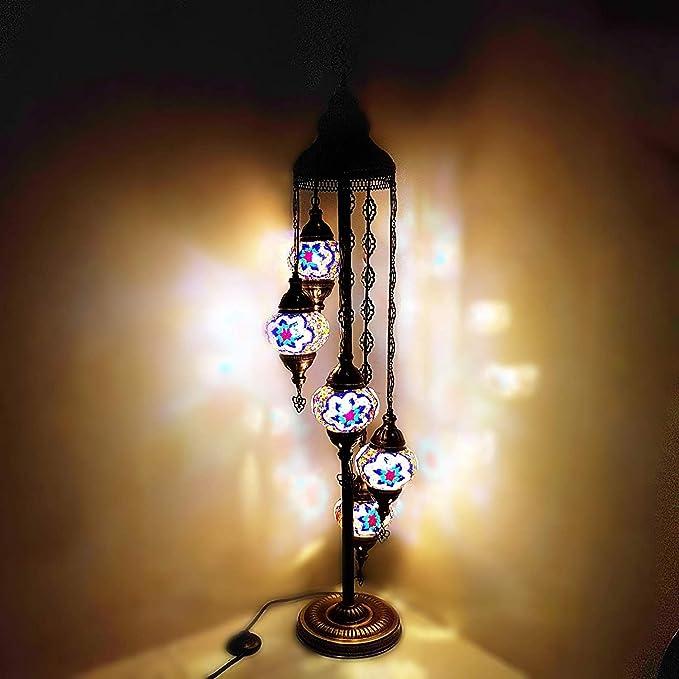 De turquía marroquí Estilo Tiffany Mosaico De Vidrio Lámpara ...