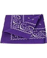 Bandana disponible en différentes couleurs de très haute qualité 100% coton, environ 54 x 54 cm Paisley,:violet foncé 64