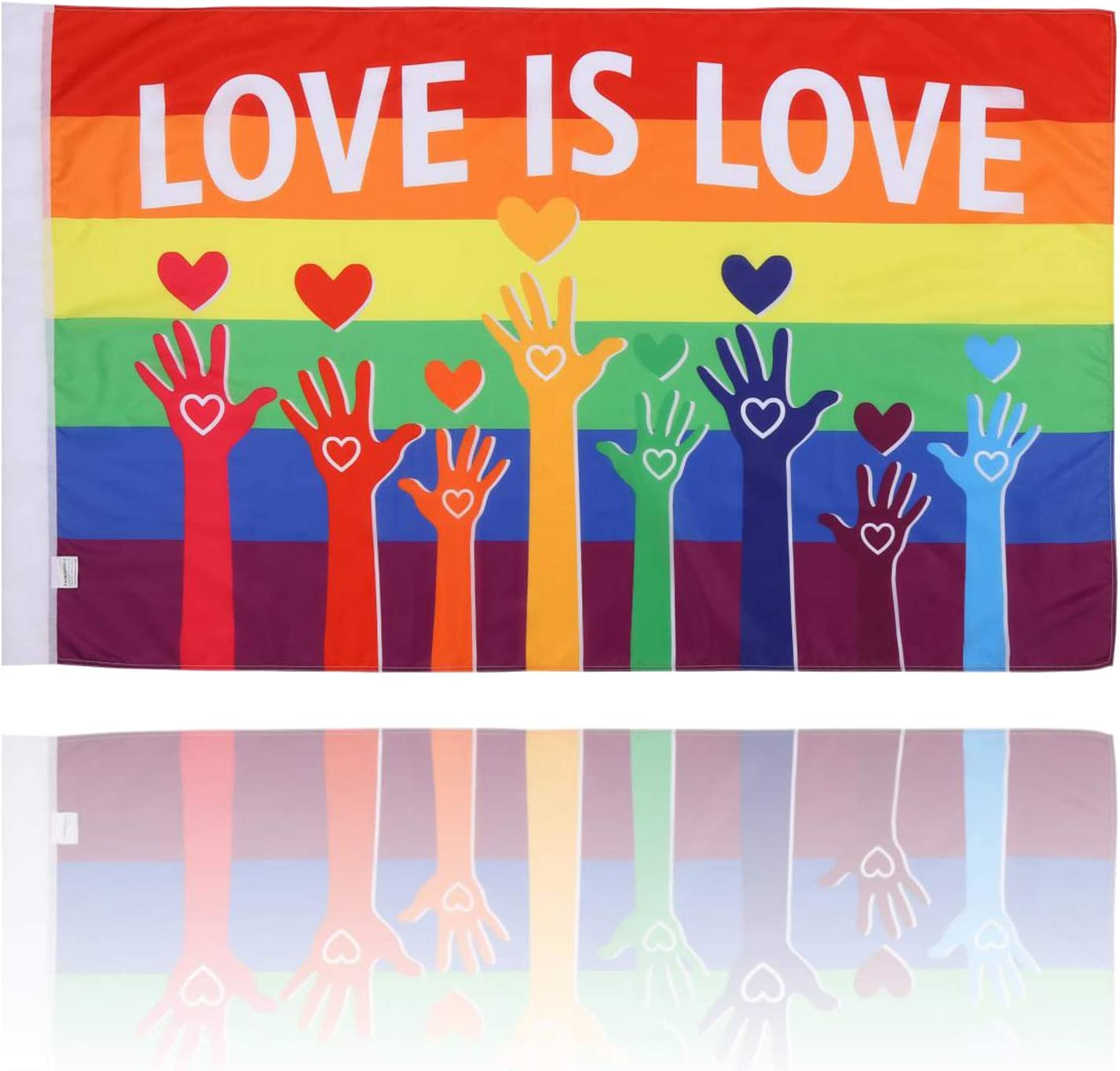 BATATADOCE Gay Pride Flag-3x5 Fts LGBT Pride Flags Garden House Outdoor Banner-Love is Love Flag