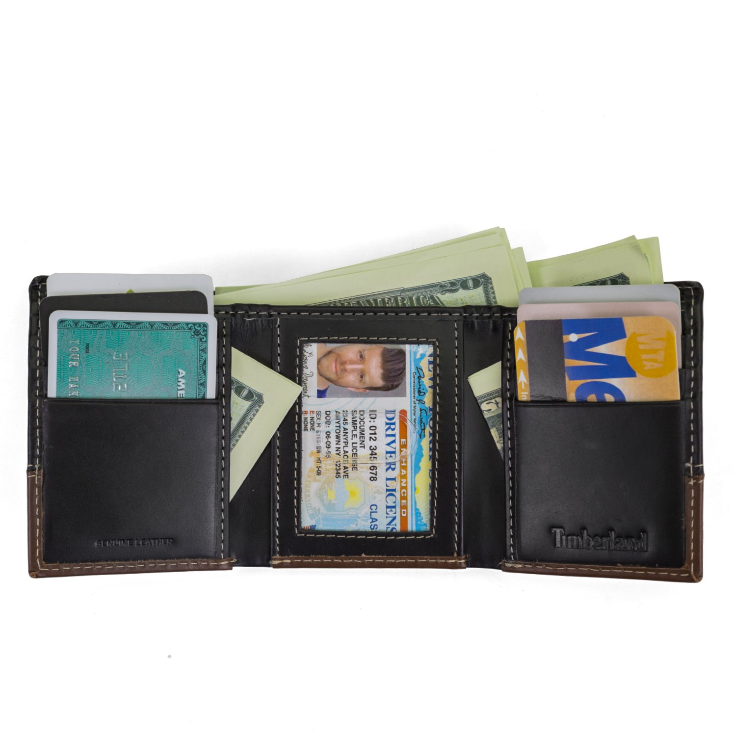 fca061ce34ac Timberland Men's Hunter Colorblocked Trifold Wallet, Black/Brown, One Size:  Amazon.ca: Clothing & Accessories