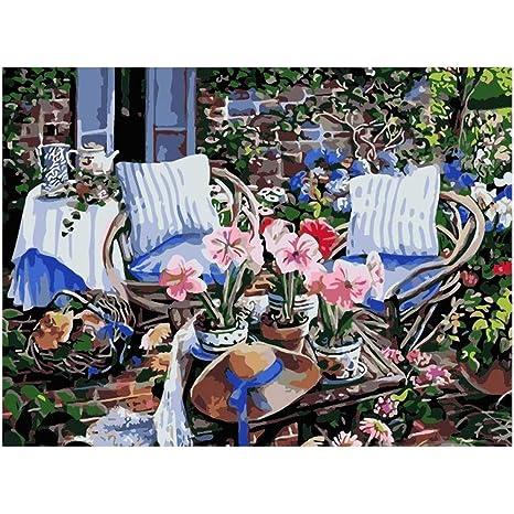 GLLCYL DIY Pintura al óleo Pintura por número Kit Dibujo ...
