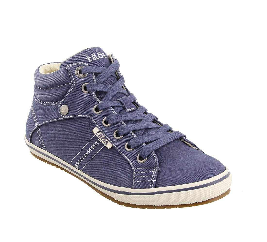 Taos Footwear Women's Top Star Graphite Distressed Sneaker 8 B (M) US B076VRRV42 6.5 M US|Indigo Distressed