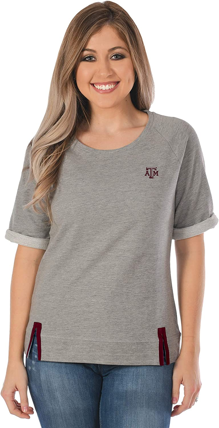 UG Apparel NCAA Womens Gray Roll-Up French Terry