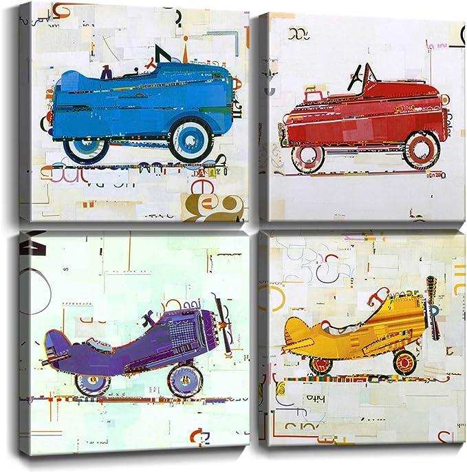 Cars Disney Film Childrens Kids Room Tv Movie Canvas Picture Wall Art Print