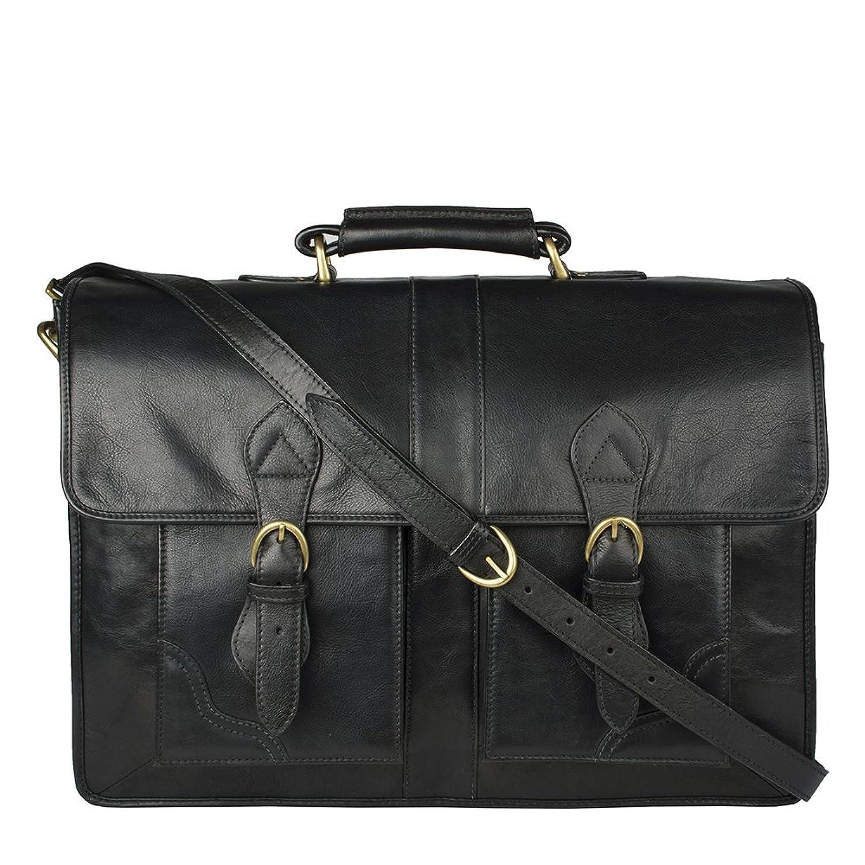 46c63508232d Hidesign Review Briefcase Bag - Messenger Bag - Leather Bag - Laptop Bag -  Shoulder Bag - For Men - Suitable For 17  Laptop…