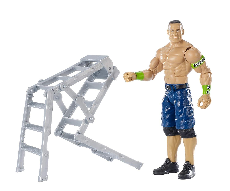 Jouet /à Collectionner Wwe Coffret Wrekkin Figurine de Catch Articul/ée John Cena 17cm et Une /Échelle Ggp04