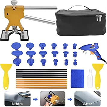 Paintless Dent Repair Tools,Auto Body Dent Repair Kit 39PCS Dent Remover for Car Body Dent Repair Kit PDR Dent Puller Kit