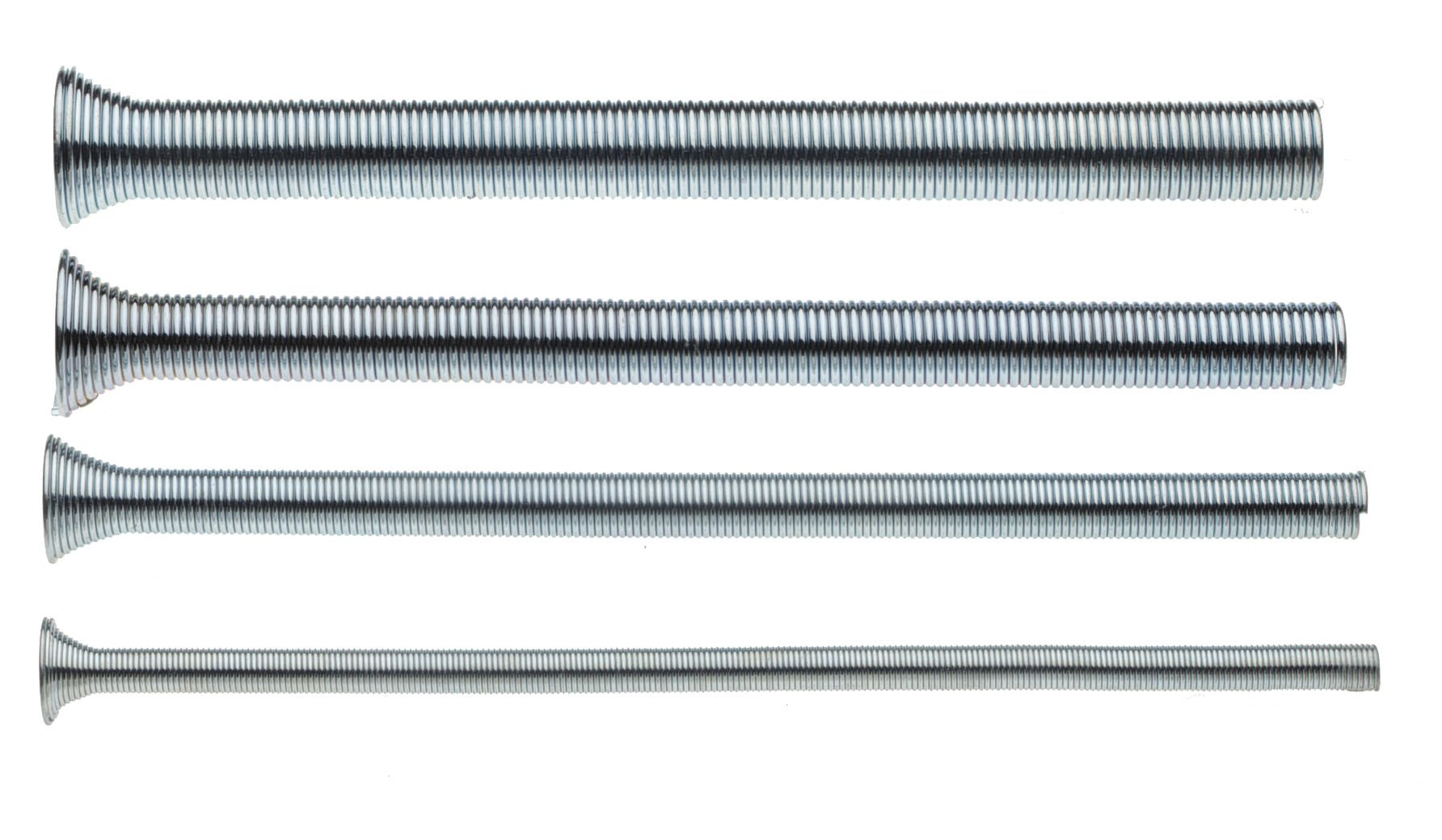 Superior Tool 61600 Spring Tube Bender 4-pc. Set,-1/4'' 3/8'' 1/2'' and 5/8'' Tube Bender Set