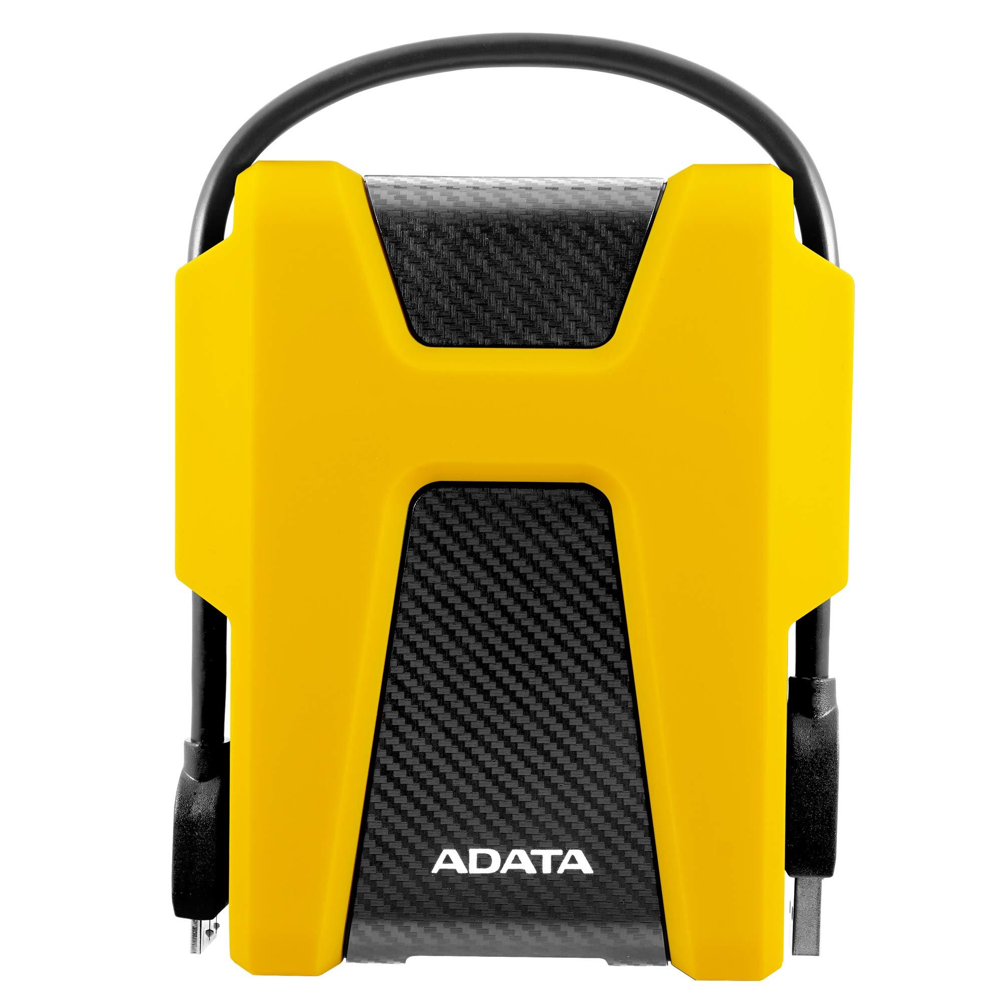 ADATA HD680 1TB Military-Grade Shock-Proof External Portable Hard Drive Yellow (AHD680-1TU31-CYL)