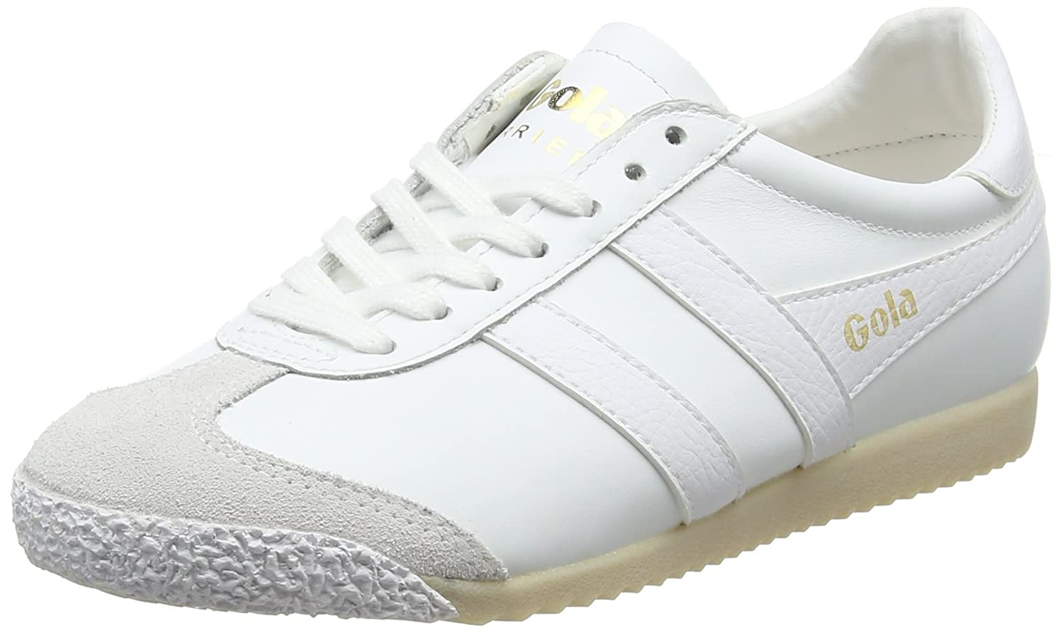 TALLA 40 EU. Gola Harrier 50 Leather White, Zapatillas para Mujer