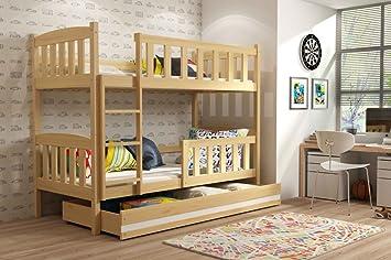 Etagenbett Mit Lattenrost Günstig : Interbeds etagenbett quba 200x90 mit lattenroste matratzen und
