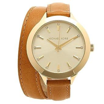 2f49ab8b2ae0 [マイケルコース] 腕時計 レディース アウトレット MICHAEL KORS ゴールド ブラウン [並行輸入品]