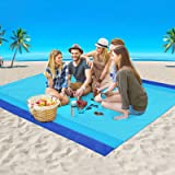 AISPARKY Beach Blanket, Large Sandproof Picnic Blanket Compact for 4-7 Persons Waterproof Quick Drying Beach Mat Made by Prem
