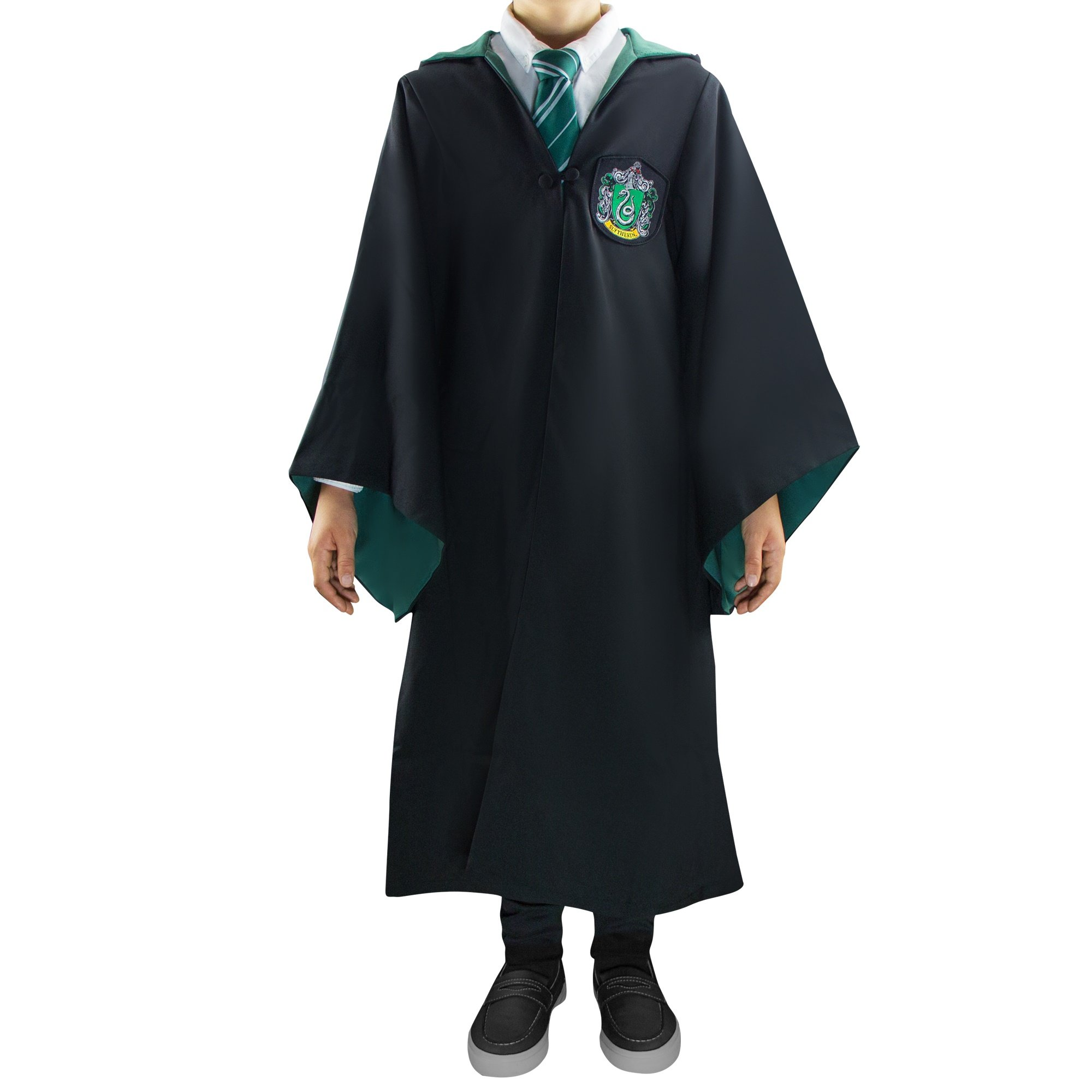 Harry Potter Authentic Tailored Wizard Robes Cloak by Cinereplicas,Slytherin,XSmall