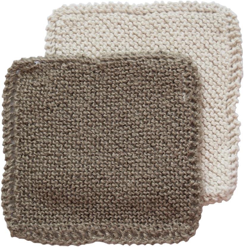 Toockies Hand Knit Organic Cotton Jute Scrub Cloths In Vintage Dish Cloth Pattern 2 Pack Home Kitchen