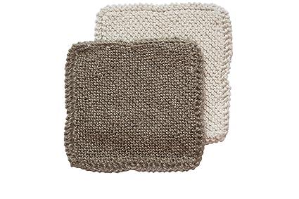Amazon Toockies Hand Knit Organic Cotton Jute Scrub Cloths In