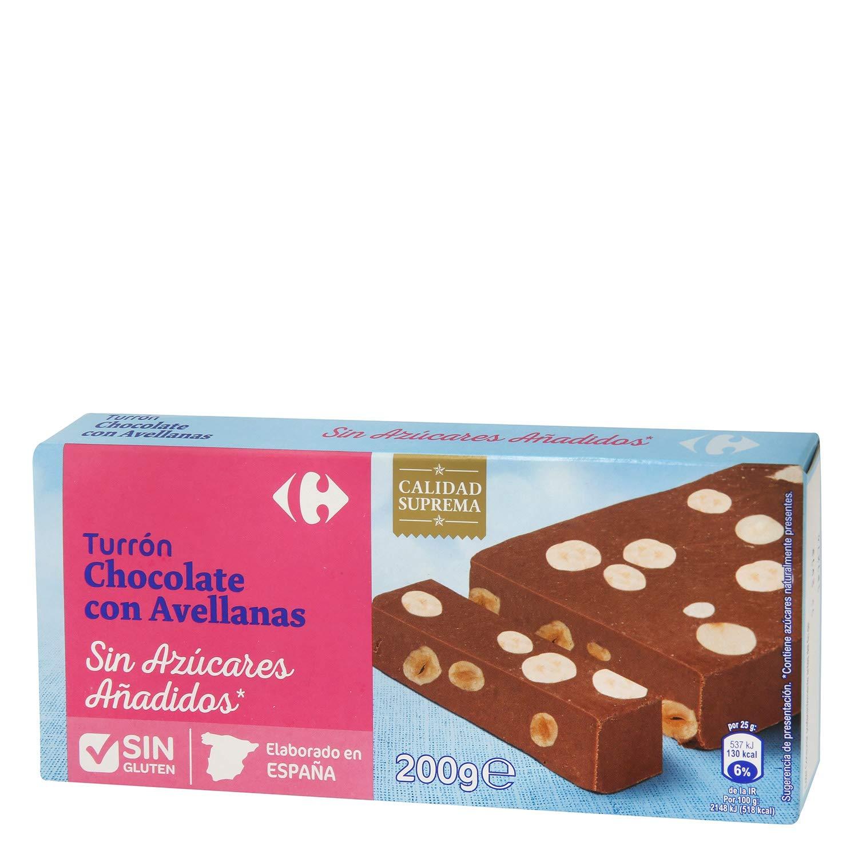 Carrefour Chocolate with Hazelnuts Spanish Nougat - Gluten ...