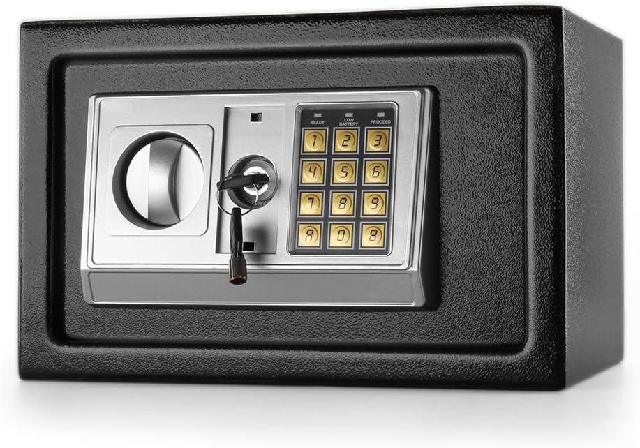 Flexzion Caja fuerte con Depósito Electrónico Con Gota abertura de la ranura Publicación - Teclado digital cerradura de combinación Gabinete de Seguridad Para Los ...