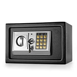 """Flexzion Electronic Depository Safe Box with Drop Slot Posting Opening - Digital Keypad Combination Lock Security Cabinet for Home Office Money Documents Gun Cash Deposit Hotel (12""""x8""""x8"""")"""