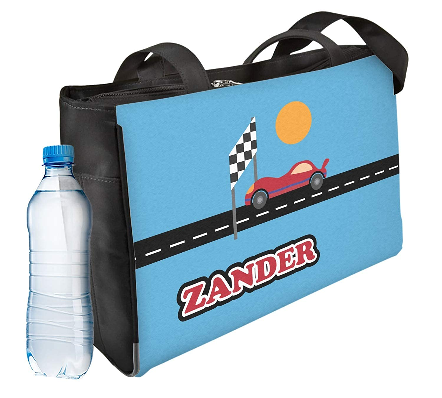 Front Personalized Race Car Ladies Workout Bag