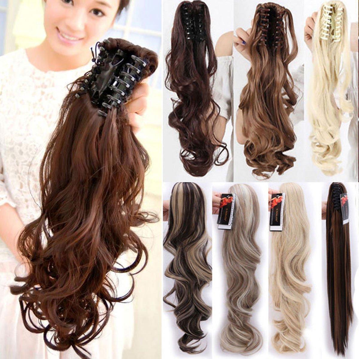 S-noilite® 45cm parrucchino, coda di cavallo, le estensioni dei capelli, ondulato Bionda scuro blonde candeggina