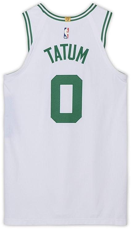 7caae1acada Jayson Tatum Boston Celtics Game-Used #0 White Jersey vs. Miami Heat ...