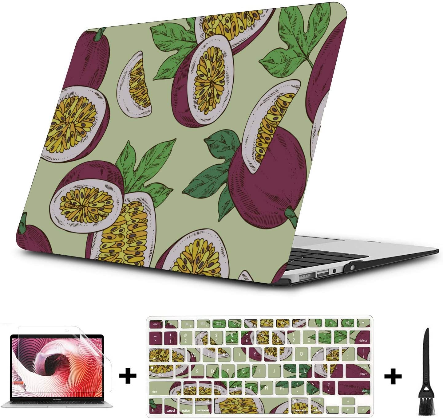 MacBook Protector Summer Sweet Sour Passion Fruit Drink Plastic Hard Shell Compatible Mac Air 11 Pro 13 15 MacBook Protector Protection for MacBook 2016-2019 Version