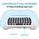 Wireless Keyboard ChatPad for Microsoft Xbox One Controller Keyboard White with Built-in USB Receiver