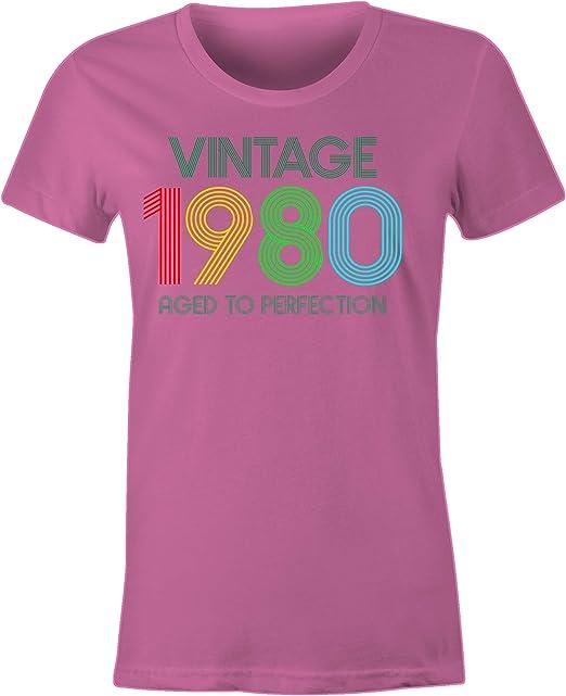 6TN Uomo Maglietta Vintage 1980 alla Perfezione